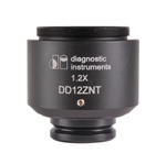 DD12ZNT 1.2 X Digital SLR/Large Format Camera Adapter for Zeiss Microscopes with Slip-in-style Photoports (Axio 2 series)
