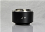 DE10IXF 1.0X F-Mount Adapter for Olympus IX Microscopes